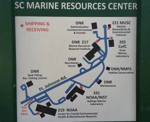 SC Marine Resources Center Map