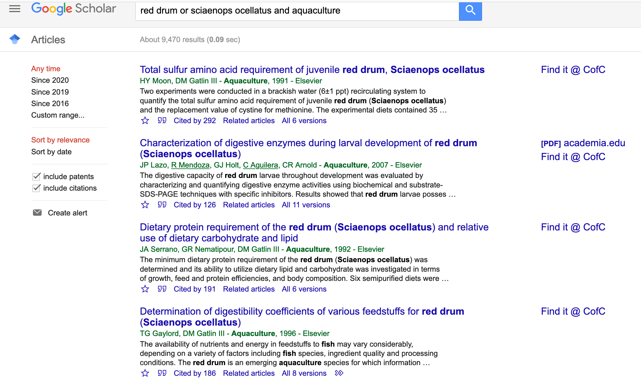 Search Google Scholar as usual